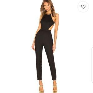 REVOLVE Open Back Jumpsuit BLACK
